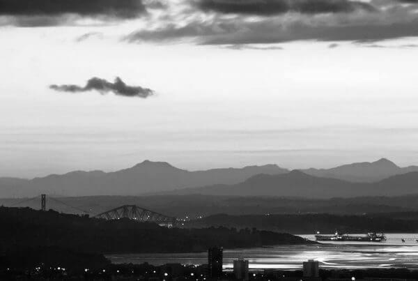 Edinburgh Reflections Sunset Skyline