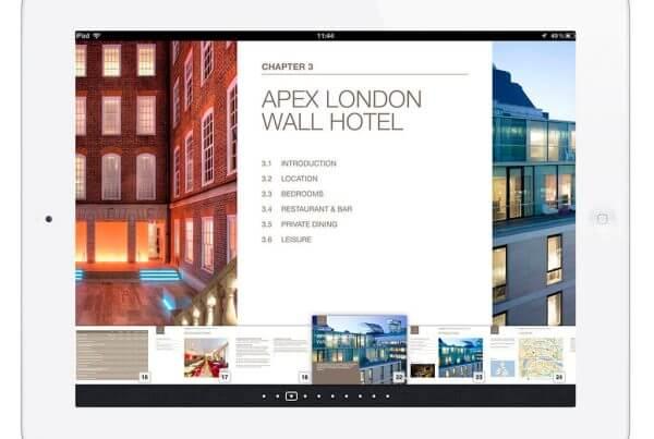 iBook iPad Apex Hotels