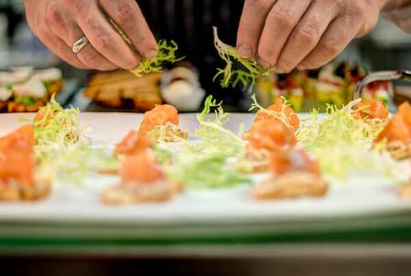 Food Photography Salmon Canape