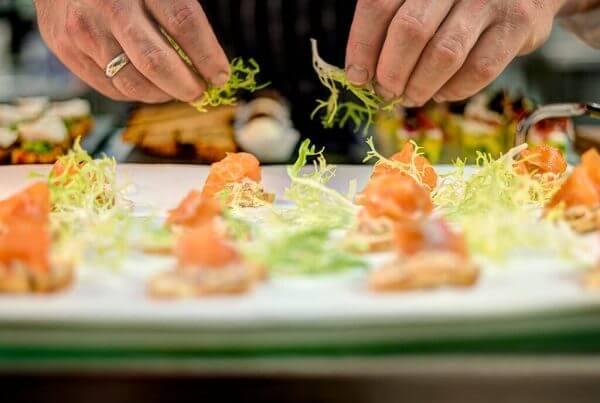 Food Photography Salmon Canape