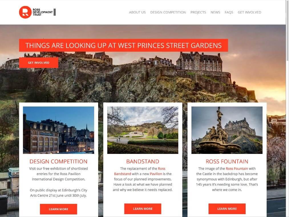 RDTrust website homepage